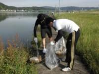 芦田川河川敷の活動の様子